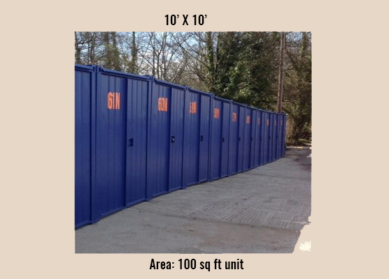 100sqft storage unit  drum